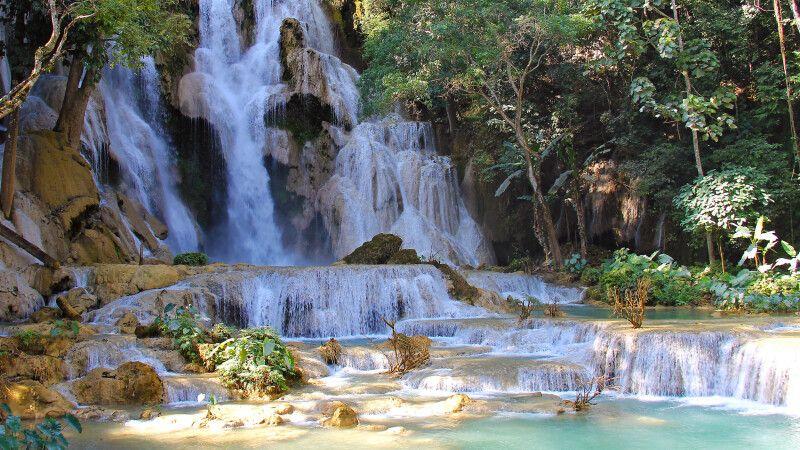 Kuang-Si-Wasserfall bei Luang Prabang © Diamir