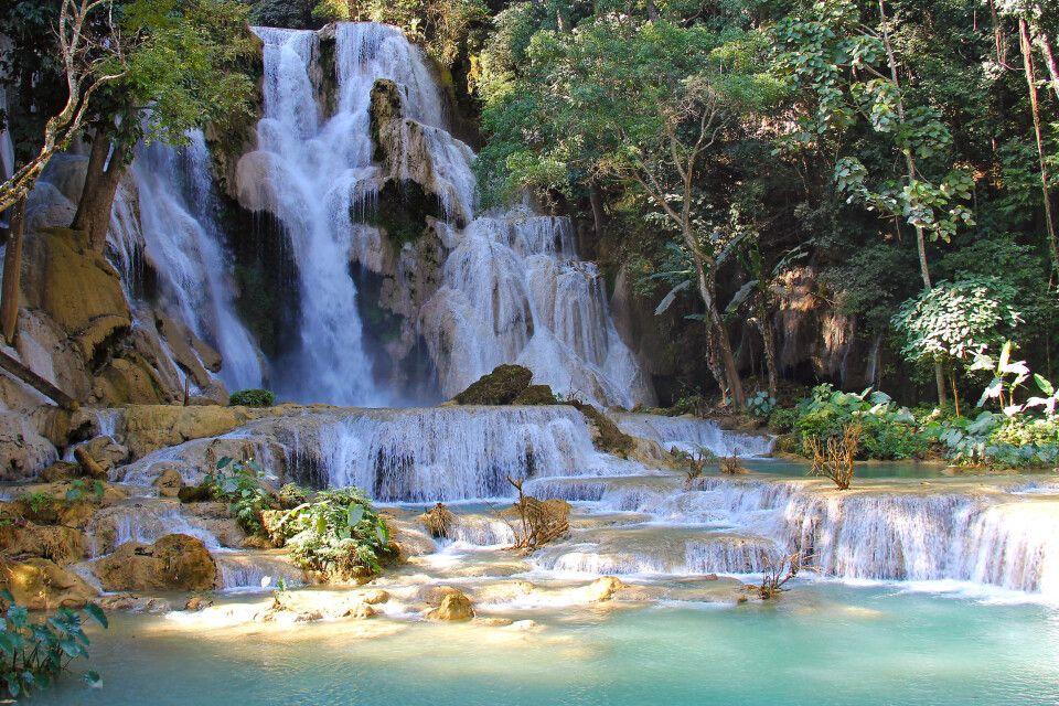 Kuang-Si-Wasserfall bei Luang Prabang