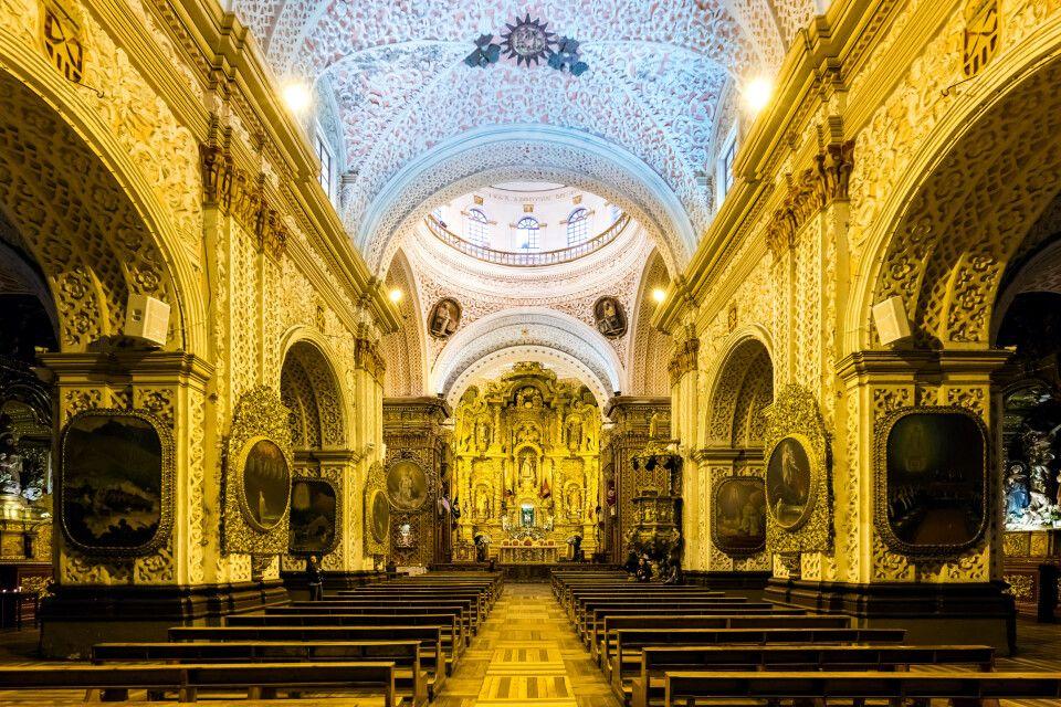 Prachtvolle Kirche La Merced in Quito