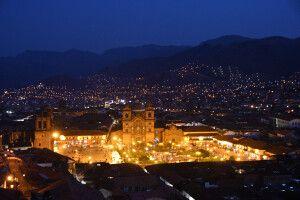 Abendstimmung über Cusco, dem Nabel der Welt