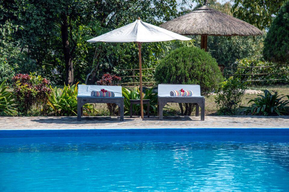 Pool der Tiger Tops Tharu Lodge