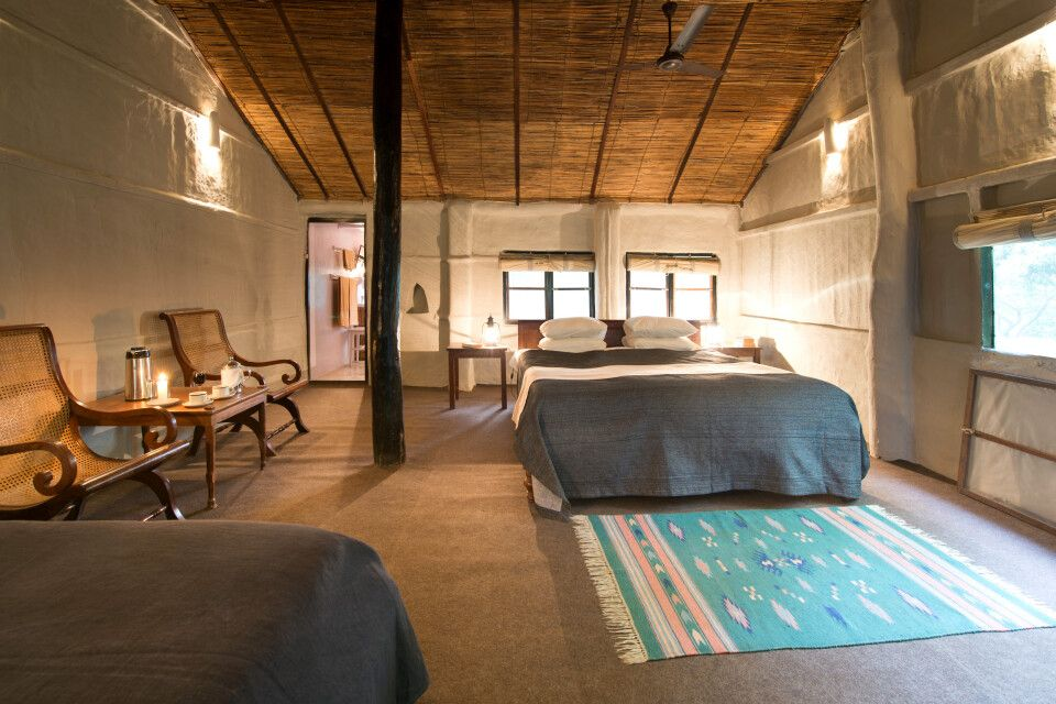 Doppelzimmer in der Tiger Tops Tharu Lodge