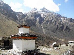 Chörten am Wegesrand vom Jomolhari-Trekking, zwischen Thangthangkha und Jangothang