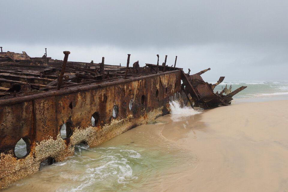 Maheno-Schiffswrack auf Fraser Island