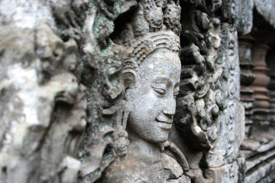Detail des Kopfes einer Apsaratänzerin