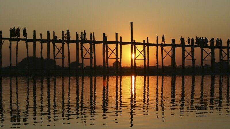 U-Bein-Brücke in der Nähe von Amarapura © Diamir
