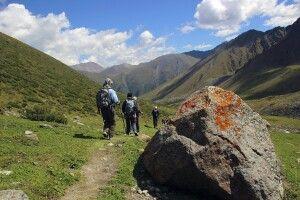 Abstieg nach Altyn Araschan