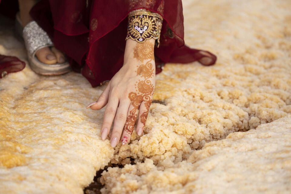 Salzablagerungen auf der Insel Hormus