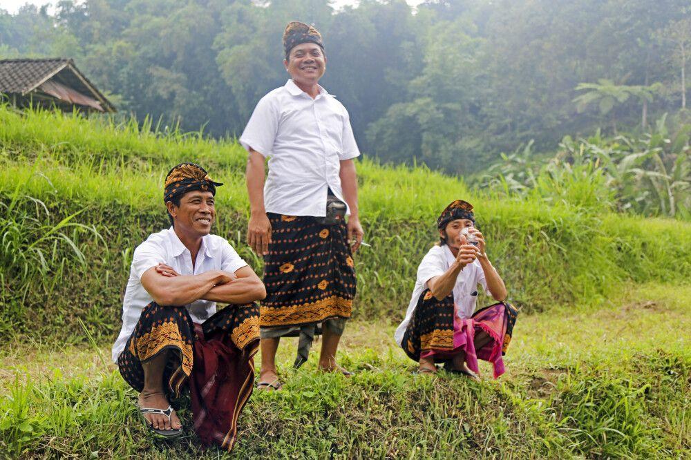 Begegnungen im Reisfeld auf Bali