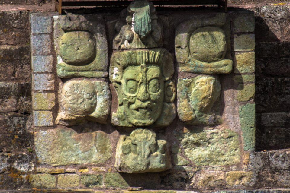 Ruine vom Maya-Sonnengott in Copan