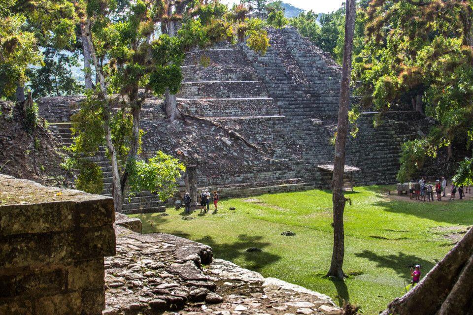 Die Maya-Pyramide in Copan - Archäologischer Park