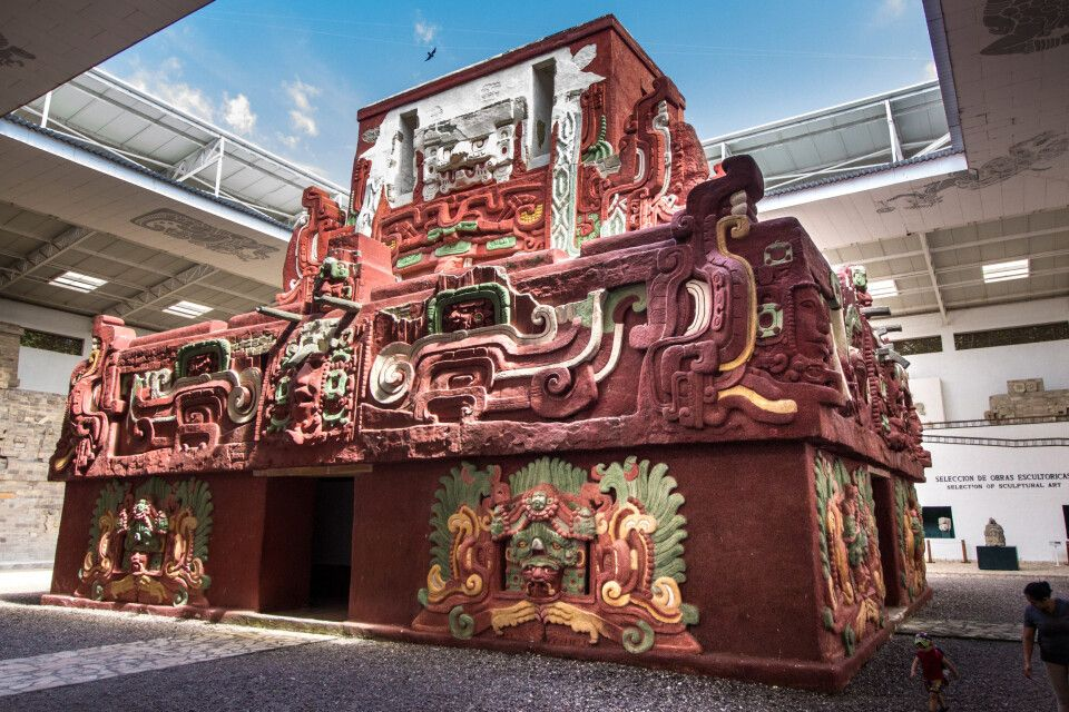 Replik des Tempels in Copan-Skulpturen Museum