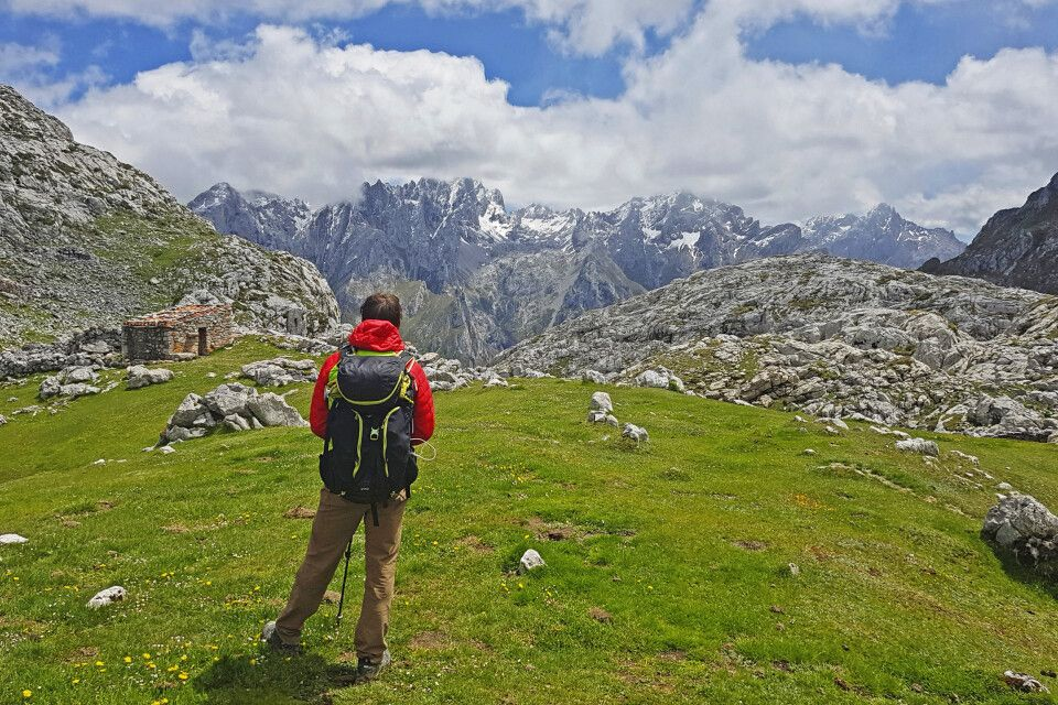 Wanderer in den spanischen Bergen