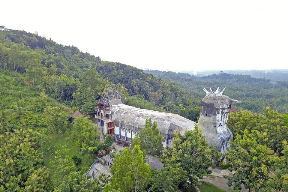 Die berühmte Chicken Church auf Java