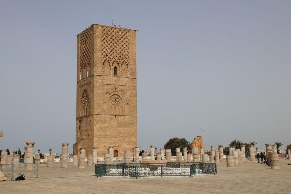 Der Hassan-Turm in Rabat ist Überbleibsel einer nie vollendeten Moschee aus dem 12. Jahrhundert