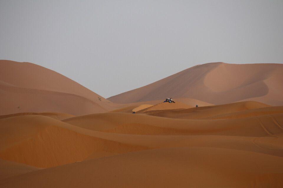 Verschnaufpause in den höchsten Sanddünen Marokkos