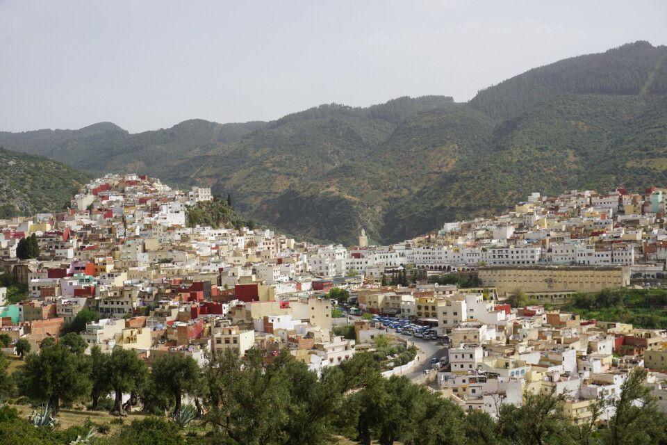 Blick auf die Stadt Moulay Idriss