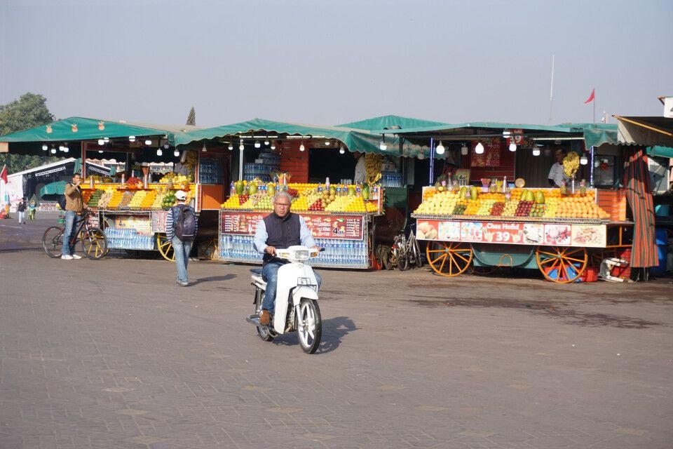 Marktplatz Jemaa El-Fna in Marrakesch