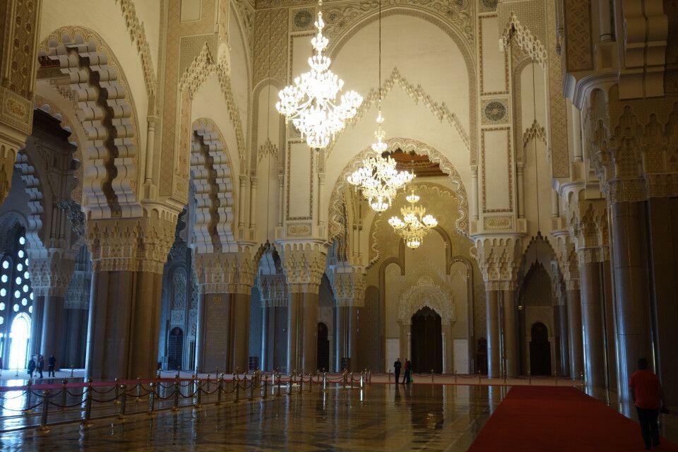 Im Inneren der Hassan II. Moschee