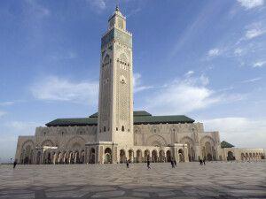 Aussenblick auf die Moschee Hassan II in Casablanca
