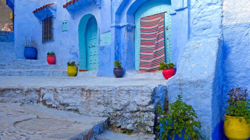 """Chefchauen die """"blaue Stadt"""" Marokkos © Diamir"""
