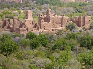 verlassene Kasbah im Draa-Tal