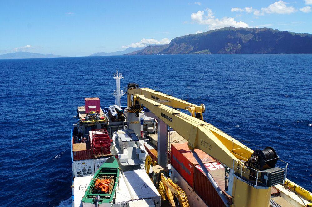 Der Frachtbereich der Aranui 5.