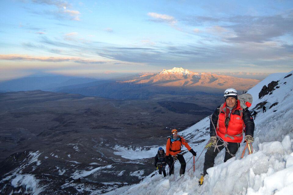 Aufstieg am Coropuna mit fantastischem Ausblick