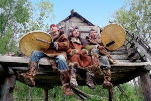Volksgruppe der Ewenen in Esso