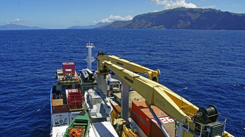 Der Frachtbereich der Aranui 5 © Diamir