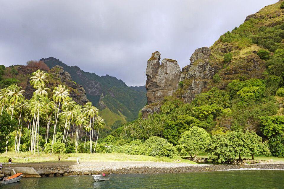Die Bucht von Hanavave auf Fatu Hiva