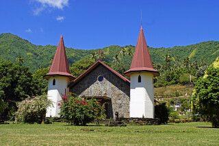 Die Kirche von Hatiheu auf Nuku Hiva