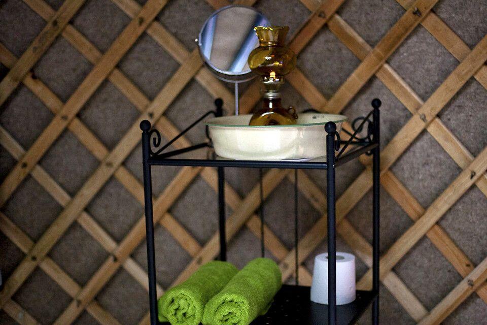 Jurten-Glamping in Nyrups Naturhotell