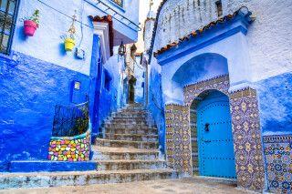 Blick in die blaue Stadt von Chefchaouen