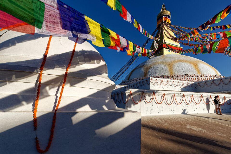 Buddhistischer Stupa Boudhanath in Kathmandu