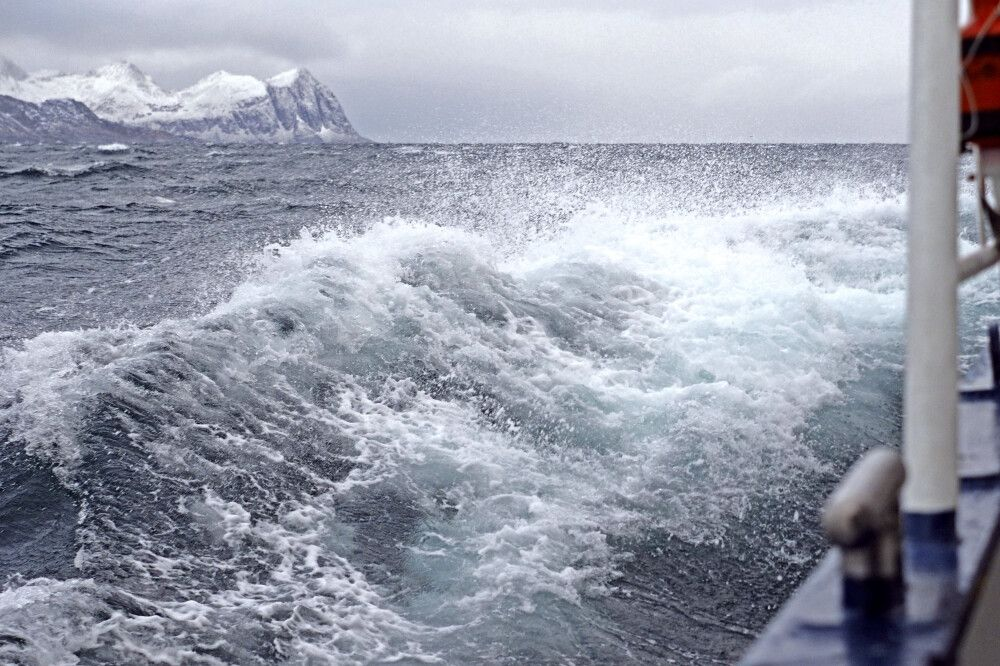 Raue See bei Windstärke 6
