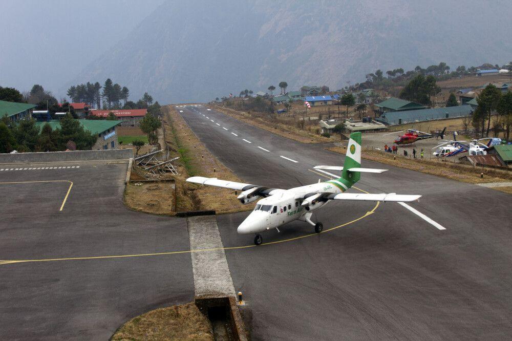 Landebahn in Lukla