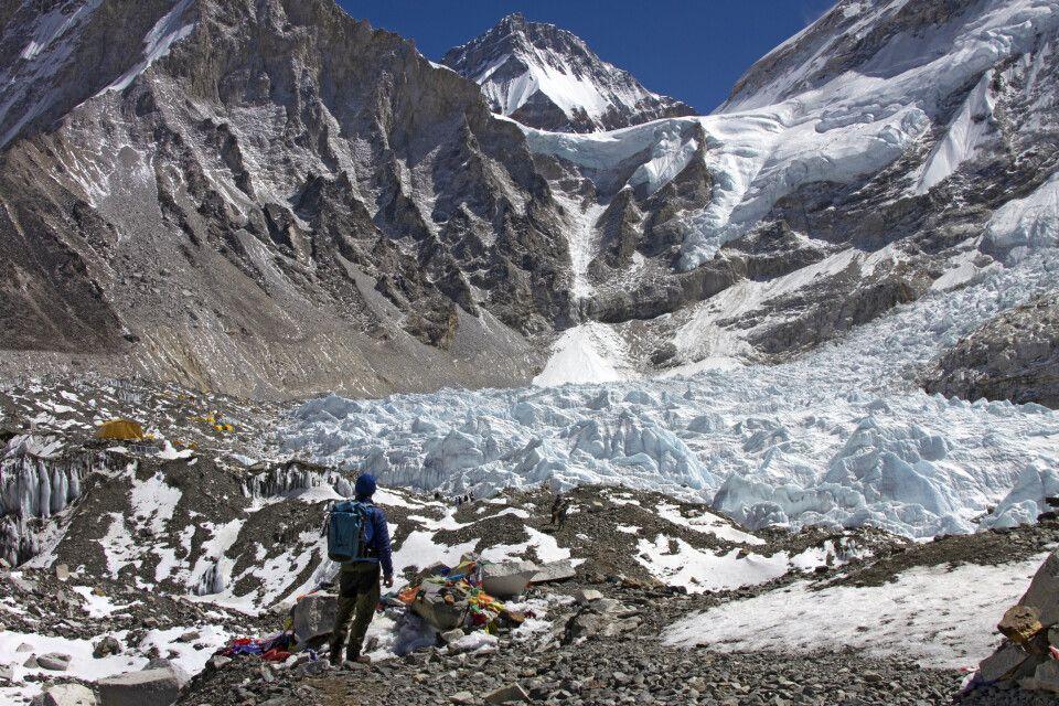 Blick auf das Mount-Everest-Basislager (5370m)