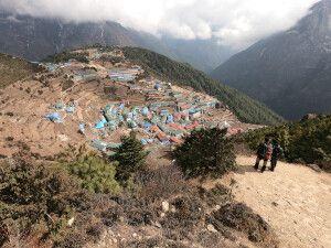 Aussichtspunkt auf die Sherpa-Stadt Namche Bazar (3440 m)