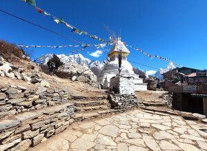 Stupa am Mong-La-Pass (3970 m) im Khumbu