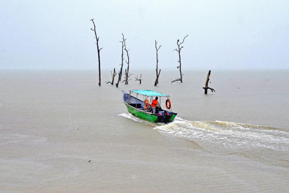 Mit dem Boot in den Bako NP