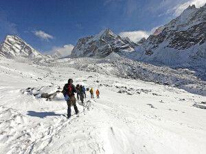 Auf dem Weg zum Cho-La-Pass (5420 m)