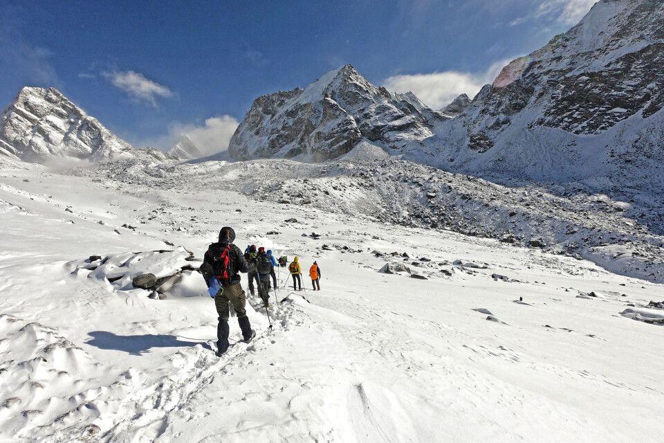 Auf dem Weg zum Cho-La-Pass (5420m)