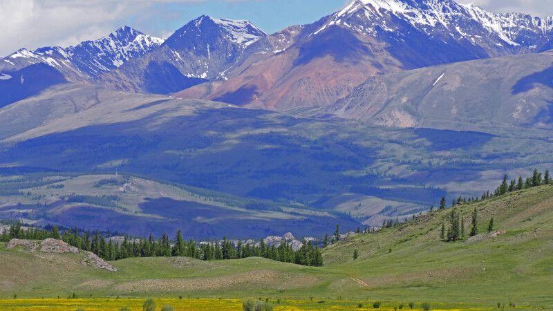 Blick über die Kuray-Steppe © Diamir