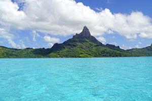 Der markante Mont Otemanu bestimmt die Optik Bora Boras
