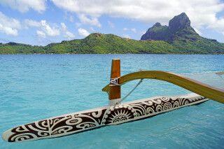 In der Lagune von Bora Bora