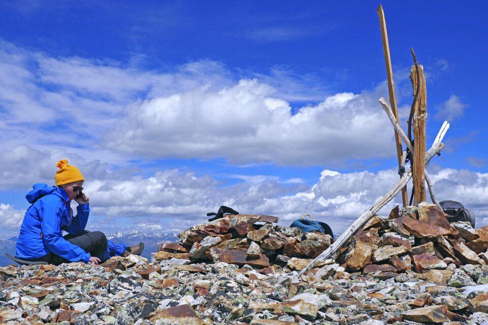 Auf dem Gipfel des Uchitjel