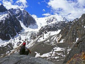 Aussicht auf Gletscher
