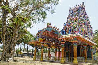 Hindu Tempel auf Karainagar in Jaffna