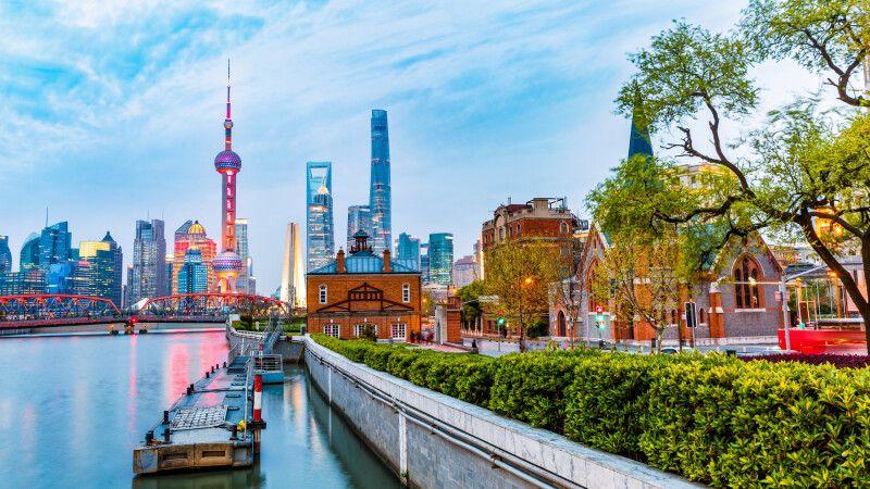 Die Skyline von Shanghai © Diamir